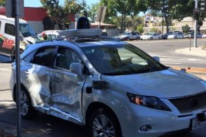 Google self-driving car crashes in California
