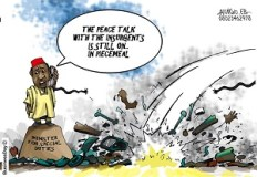 Peace talk with insurgents