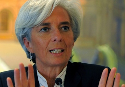 International Monetary Fund chief,  Christine Lagarde