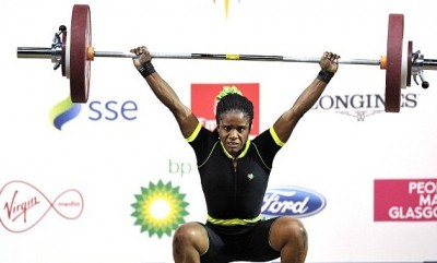 Nigeria's 16-year-old Commonwealth Games gold medal-winning weightlifter Chika Amalaha