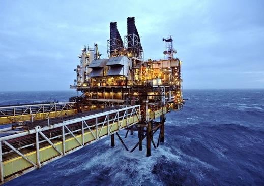 BP's ETAP oil platform in the North Sea