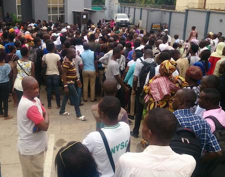 Image result for Bank customers protest excess charges, seek CBN intervention