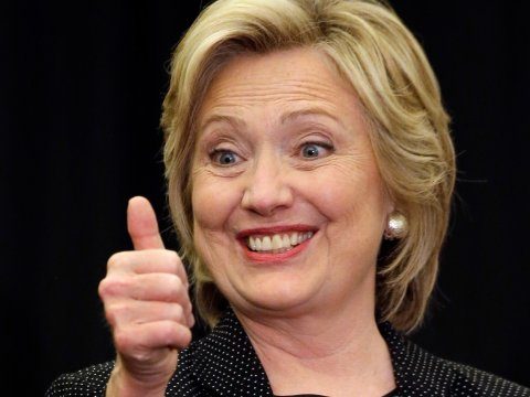 Hillary Clinton crosses tape for Democratic nomination