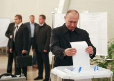 Russia's ruling party wins 54.2 percent in election after 90 percent counted