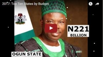 2017: Top Ten States by Budget