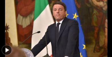 Italian Prime Minister Renzi Announces Intention to Resign