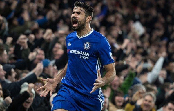 Diego Costa trains alone at Chelsea