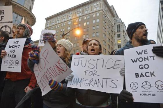 Trump immigration clampdown sows confusion as protests swell