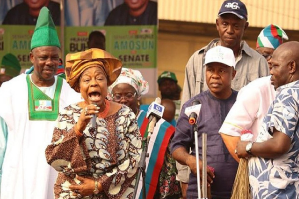 Amosun canvas support for APM candidate at APC campaign rally