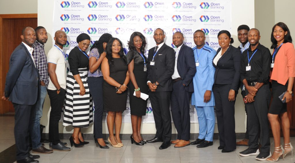 Members of Open Banking Nigeria at a recent function in 2018