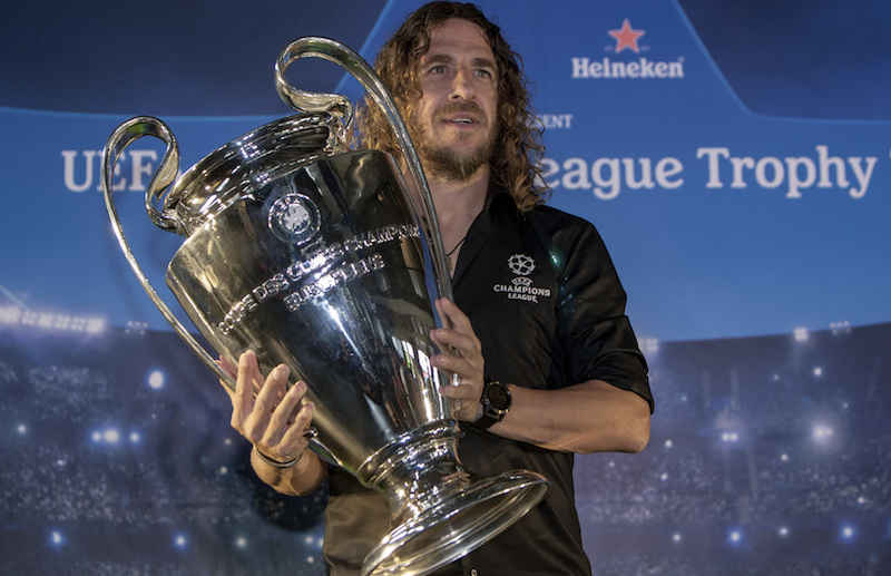 Football superstar Puyol confirms arrival for UEFA Champions League Trophy Tour
