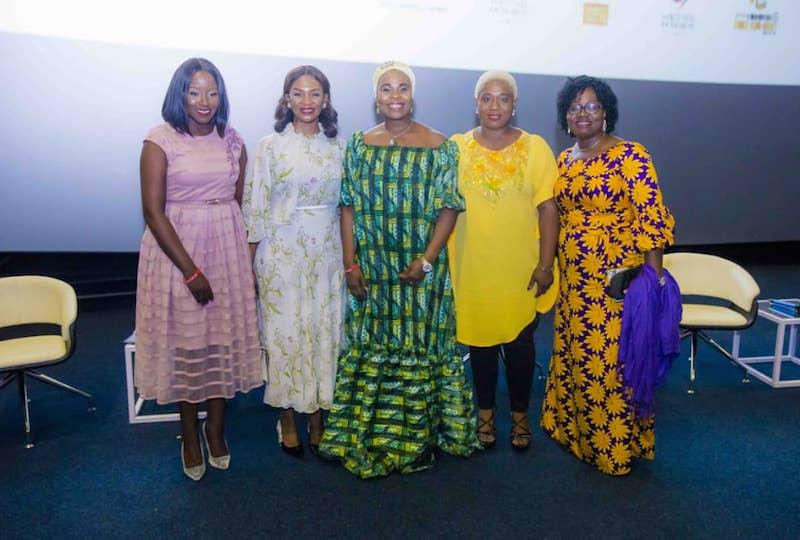 L-R: Aderonke Adebajo, Mrs. Bola Tinubu, Dr Maymunah Kadiri, Anthonia Ojenagbon, Dr. Esther Somefun.