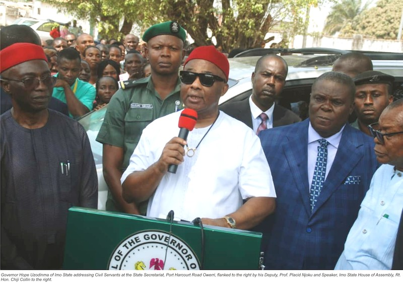 Imo State Government Suspends Payment Of Pensions To ex-Public Office Holders