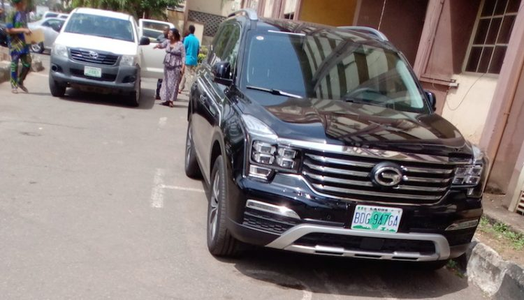 Lagos cabinet gets GAC GS8 Trumpchi SUV official cars