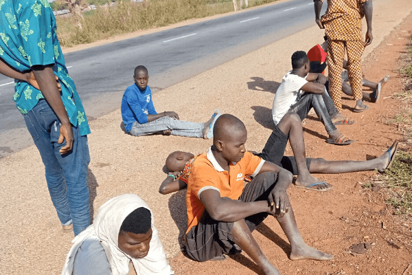 Stranded Illegal migrants