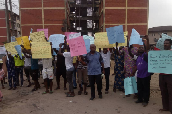 Surulere game village residents protest sale of sewage plant