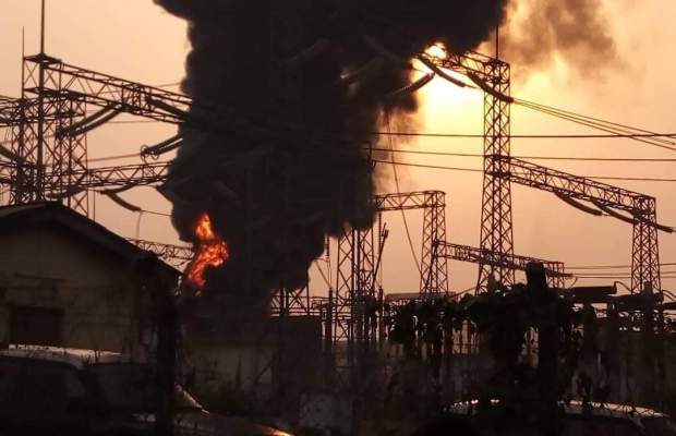Ibadan Disco's customers to suffer power outage as TCN transformer caught fire