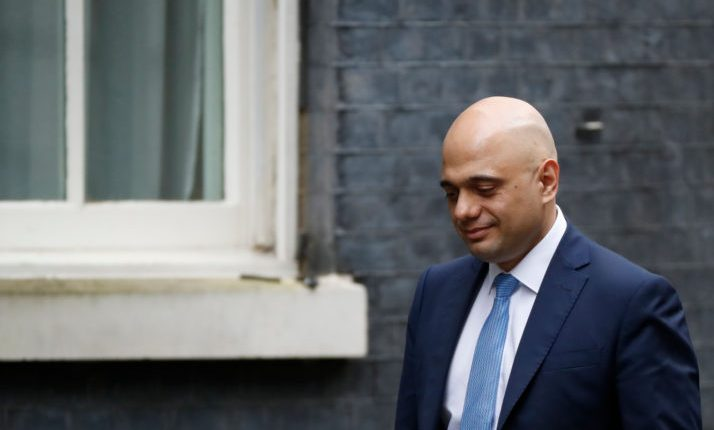 Sajid Javid resigns as UK chancellor