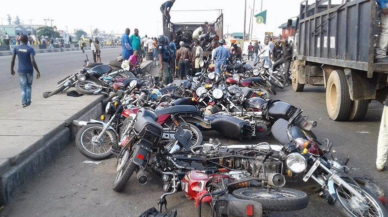 Ban: Police arrest 40, seize 266 'Okada, Keke' in Lagos ...
