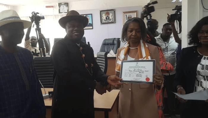 Breaking: INEC presents Certificates of Return to Diri, Ewhrujakpo