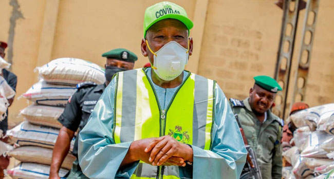 Ganduje directs security agents to enforce compulsory wearing of face mask  order - Businessday NG