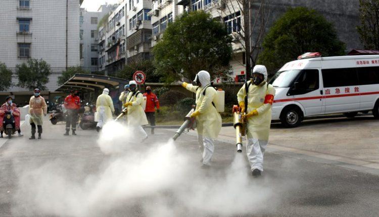 coronavirus disinfection of public places