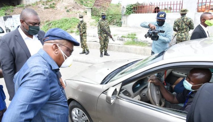 Gov. Wike takes over the streets as Port Harcourt moves into 'extreme lockdown'