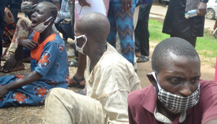 Oyo police parade kidnappers of Ibadan Islamic cleric twins.