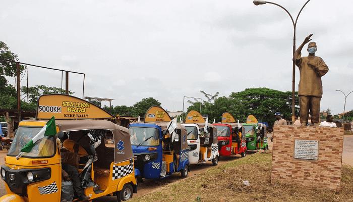 Bajaj rally covers 5594 kms, 27 cities, 18 Nigerian states in 41 days