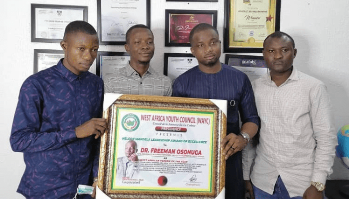 Dr. Freeman Osonuga honored as West African Person of the Year 2020